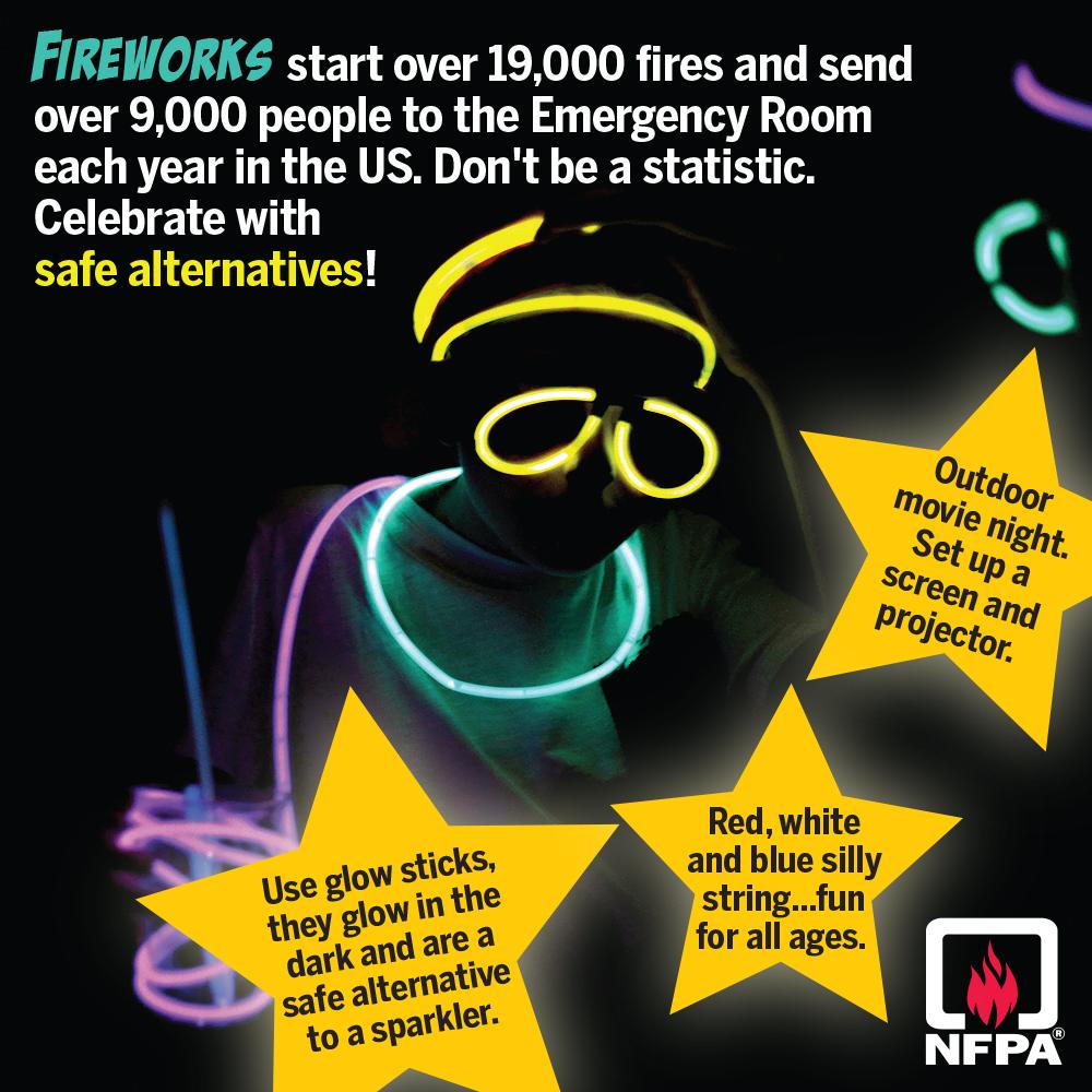 Enjoy alternatives to fireworks for children.